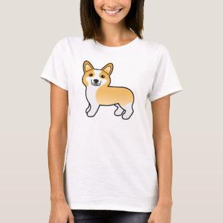 Camiseta Perro lindo del Corgi Galés del Pembroke del