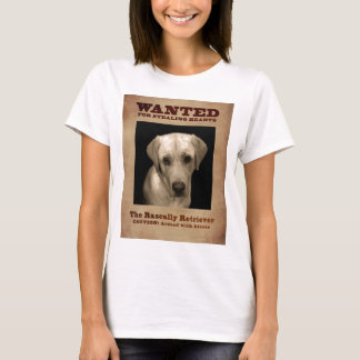 Camiseta Perro perdiguero bribonesco, aka laboratorio