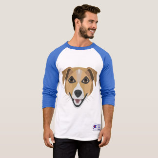 Camiseta Perro Terrier sonriente del ilustracion