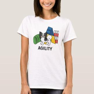 Camiseta Perro tricolor de la agilidad de Papillon