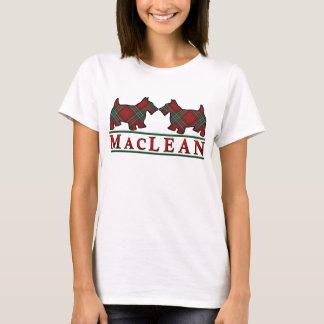 Camiseta Perros del escocés del tartán de MacLean del clan