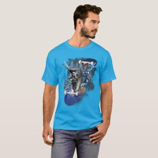 Camiseta Persona que practica surf de la calle, collage del