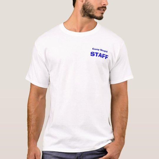 Camiseta Personal estúpido de la leva
