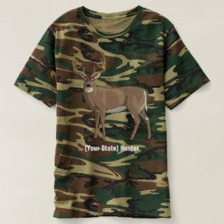 Camiseta Personalice a su cazador del dólar del venado de