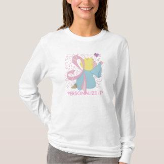 Camiseta Personalizable del ángel del cáncer de pecho
