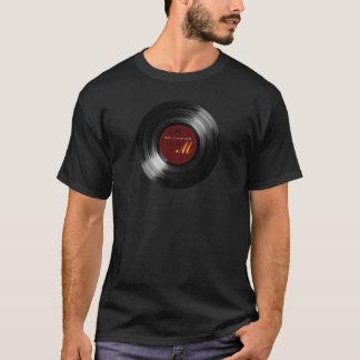 Camiseta personalizable del disco de vinilo