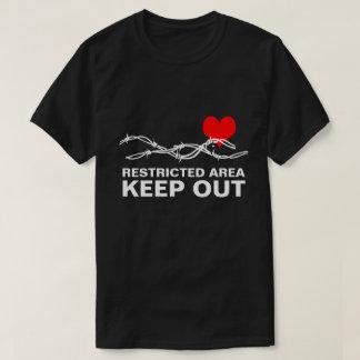 Camiseta Personalizable romántico divertido del área