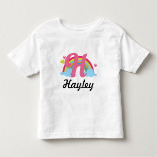 Camiseta personalizada arco iris de la letra H del
