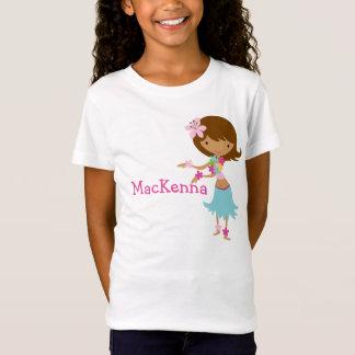 Camiseta personalizada chica de Luau Hawaii