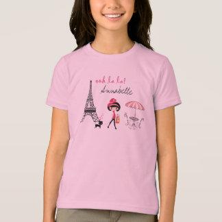 Camiseta personalizada de París del chica y del