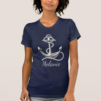 Camiseta personalizada del ancla para ella