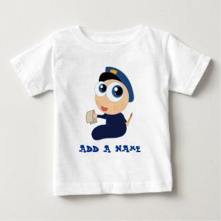 Camiseta personalizada del bebé de la policía