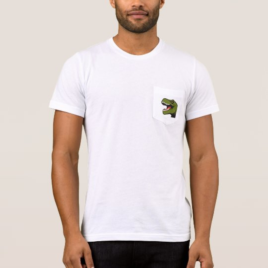 Camiseta personalizada del bolsillo de T-Rex