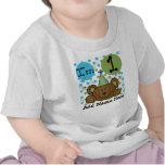 Camiseta personalizada del cumpleaños del oso de p