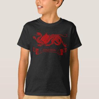 Camiseta personalizada del dragón del niño