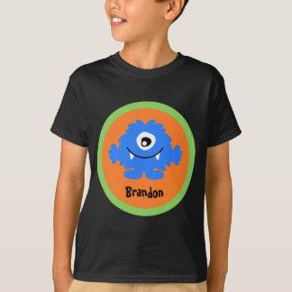 Camiseta personalizada monstruo tonto azul
