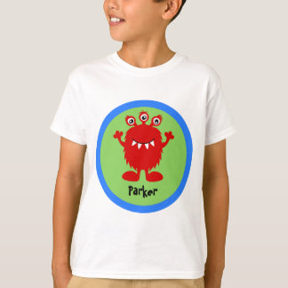 Camiseta personalizada monstruo tonto rojo