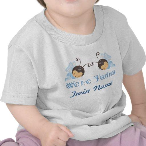 Camiseta personalizada muchachos gemelos de los be