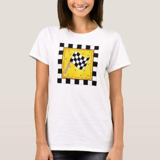 Camiseta Personalizado a cuadros de la bandera de la fan de