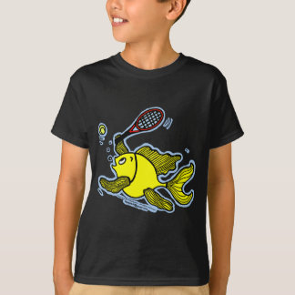 Camiseta Pescados del tenis, pescados que juegan a tenis