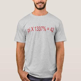 Camiseta pi X el 1337% = 42
