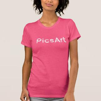 Camiseta PicsArt, logotipo blanco para mujer
