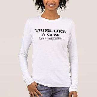 Camiseta - piense como una vaca