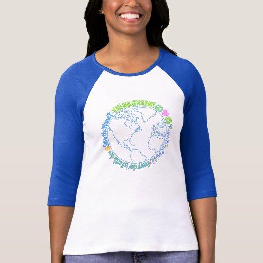 Camiseta Piense el mundo verde