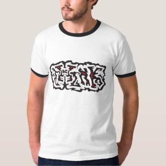 Camiseta Piense el negro de la pintada