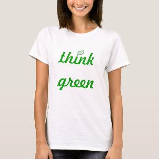 Camiseta piense el verde
