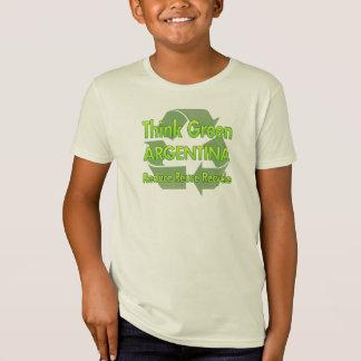 Camiseta Piense la Argentina verde