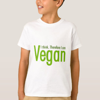 Camiseta Pienso.  Por lo tanto soy vegano