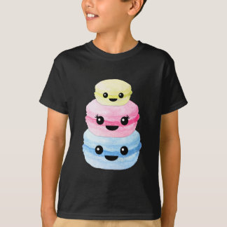 Camiseta Pila linda de Kawaii Macaron