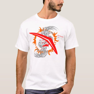 Camiseta Piloto del campo a través del ala delta