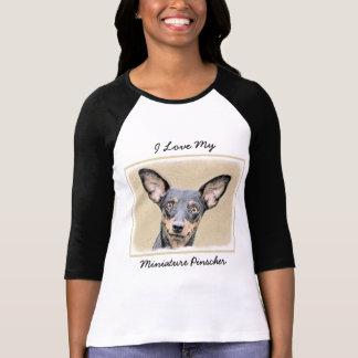 Camiseta Pinscher miniatura que pinta arte original lindo