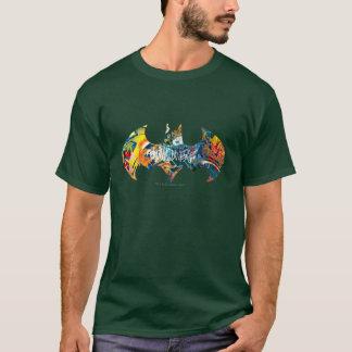 Camiseta Pintada del logotipo Neon/80s de Batman