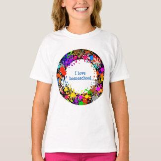 Camiseta Pinte el homeschool del amor de la salpicadura I