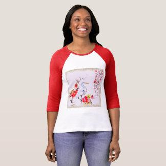 Camiseta Pintura asiática de la grúa