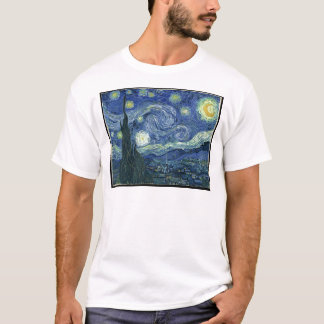 Camiseta Pinturas de Van Gogh: Noche estrellada Van Gogh