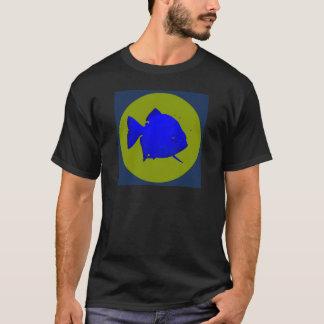 Camiseta Piraña social - logotipo del disco del SP con el