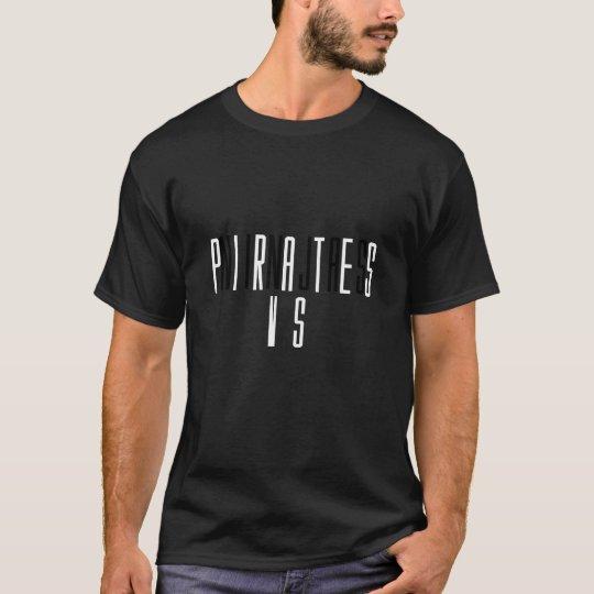 Camiseta Piratas contra la NinjasT-camisa
