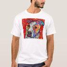 Camiseta Pitbull cósmico - colorido brillante - idea del
