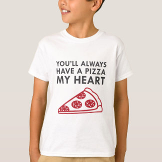 Camiseta Pizza mi corazón
