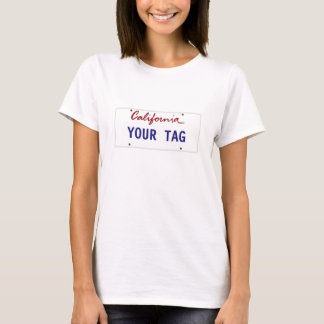 Camiseta Placa de encargo de California