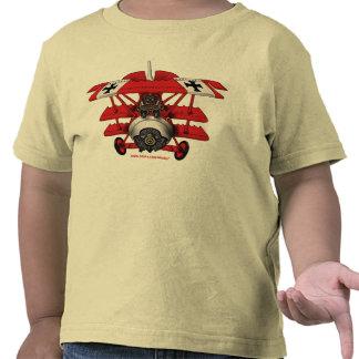Camiseta plana de los niños del barón rojo fresco