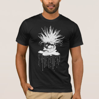 Camiseta PLANTA DE LA PIRAÑA: BLANCO en serie del negro