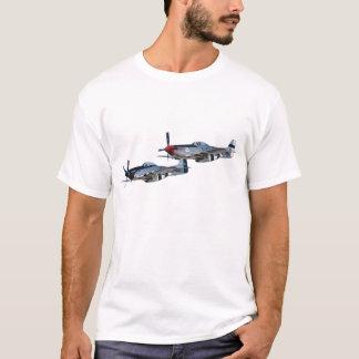 Camiseta Plata rápida de los mustangos P-51 y galón