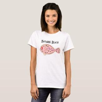 Camiseta Platija de la Florida de la playa de Navarra