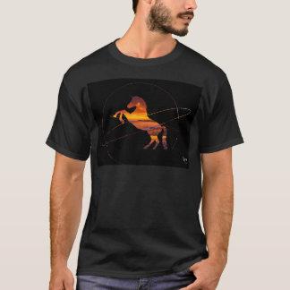 Camiseta Playa hermosa de la puesta del sol del unicornio