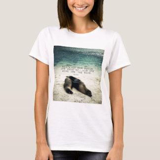 Camiseta Playa romántica Emily Bronte de la cita de los